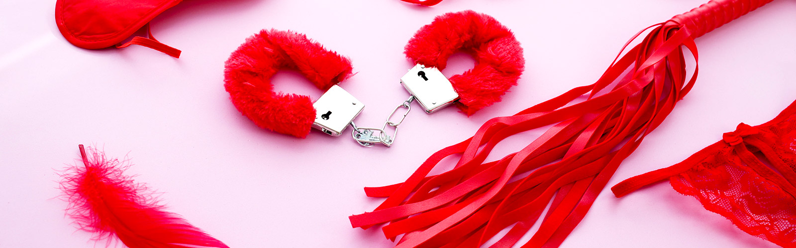 Red bondage toys