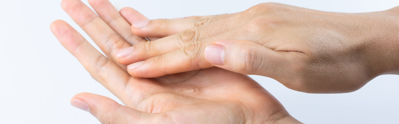 Lubricant on hands