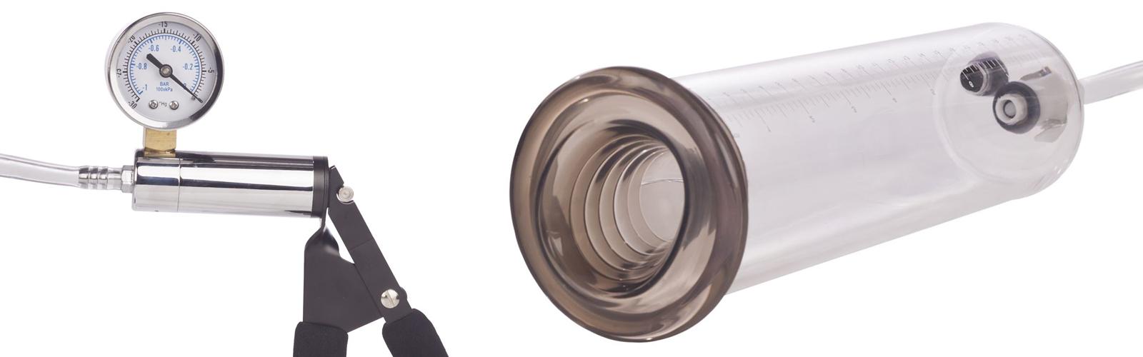 Penis pump and pressure gauge